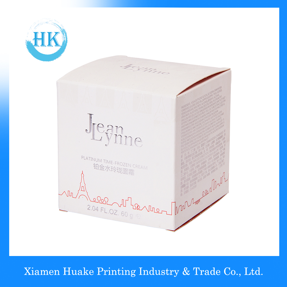 Luxury Paper Packaging Cosmetic Creams Square Box For Personal Care