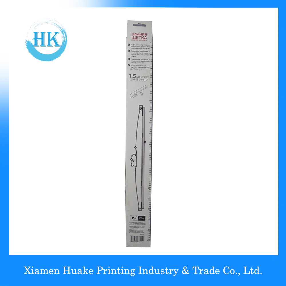 Long Wiper Box Paper Packing Box With PVC Window