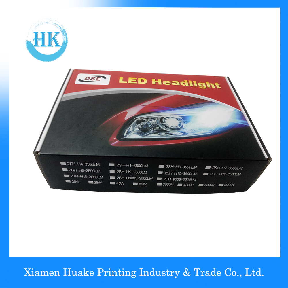 LED Headlight Packaging Paper Pox