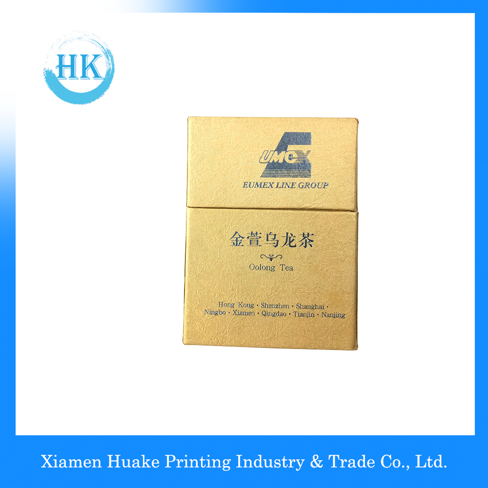 Fancy paper Packaging Tea Box Lid And Bottom With Hot Stamp