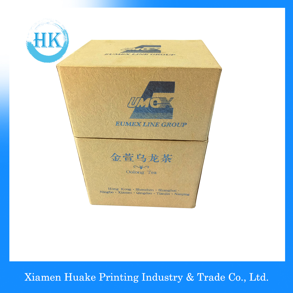 Packaging Tea Box Lid And Bottom With Hot Stamp