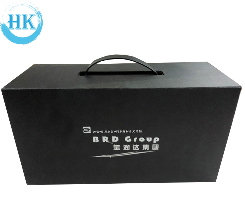 Black Hardcover Box With Black Handle