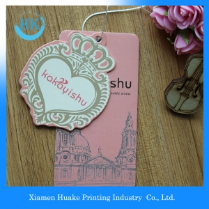 Fashion Design Full Colors  Printed Paper Garment Label Hang Tags For Clothing