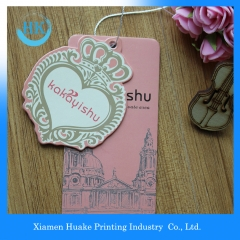 Fashion Design Full Colors  Printed Paper Garment Label Hang Tags