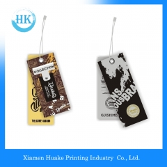 Garment Spot UV Varnish Printed Paper Hang Tags Huake Printing