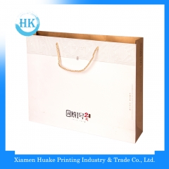 Gloss lamination paper bag with handle Huake Printing