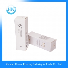 White long corrugated makeup paper box with hot-bronzing Huake Printing