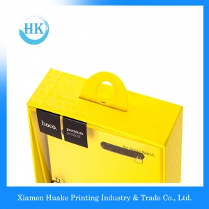 Glossy UV Printed PVC Window Box With Leather