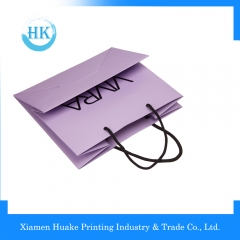 Top quality grade purple appreal industrial use handling paper bag Huake Printing