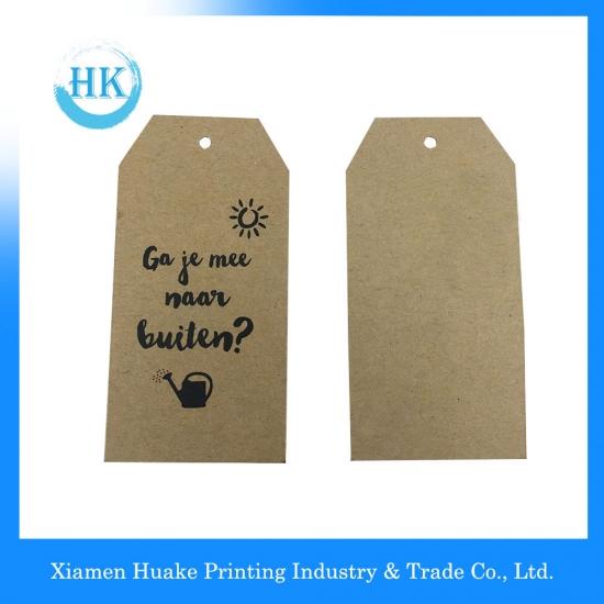 Custom Kraft Paper Hang Tag With Black Printing,Kraft Paper