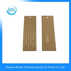 Custom Kraft Paper Hang Tag With Hot Stamping Printing,Kraft