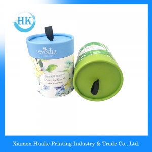Round Paper Box Matt Lamination Wrapping Paper Tubes