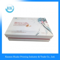 Printing Fancy Paper Magnetic Hardcover Box With Flip Top