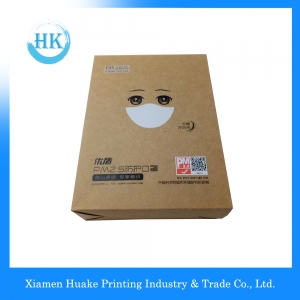 Brown Color Kraft Mask Packaging Box