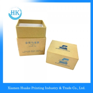 Luxury Fancy paper Packaging Tea Box Lid And Bottom With Hot Stamp