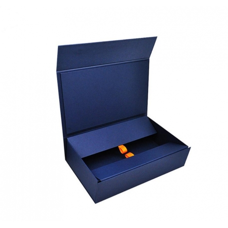 Custom luxury  ribbon folding box for clothing packaging and gift storage